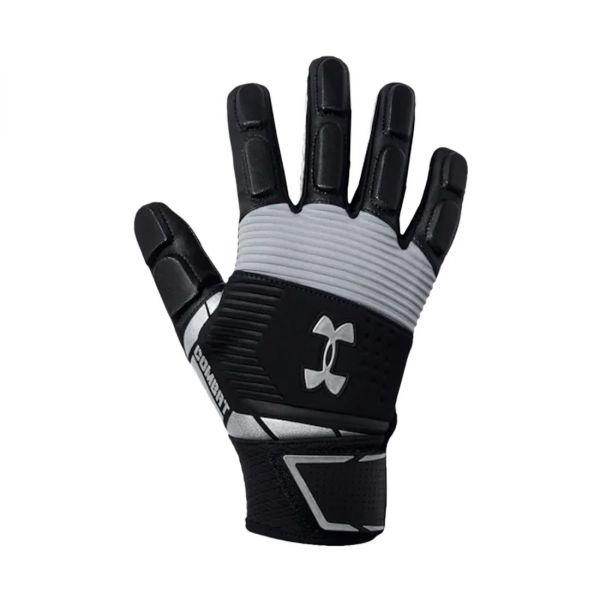 Under Armour Combat Full Finger Football Gloves - Black