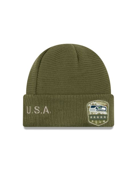 New Era On Field NFL19 Salute To Service Knit - Seattle Seahawks