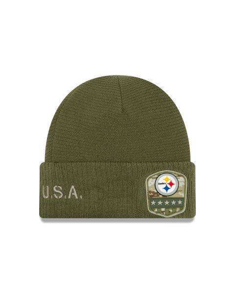 New Era On Field NFL19 Salute To Service Knit - Pittsburgh Steelers