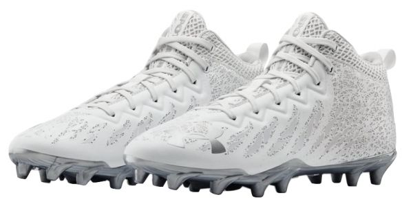 Under Armour Spotlight Select Mid MC Football Cleats - White