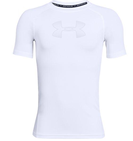 Under Armour YOUTH HeatGear Shortsleeve Shirt - White