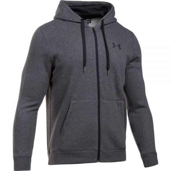 Under Armour Rival Fitted Full Zip Hoodie - Gray