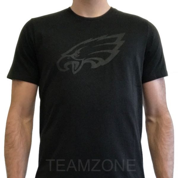 New Era NFL Tonal Black Logo Tee - Philadelphia Eagles