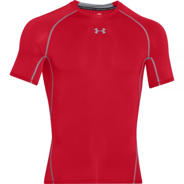 Under Armour HeatGear Shortsleeve Compression Tee - Red