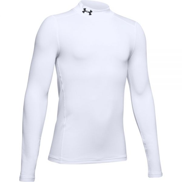 Under Armour YOUTH Coldgear Armour Mock - White