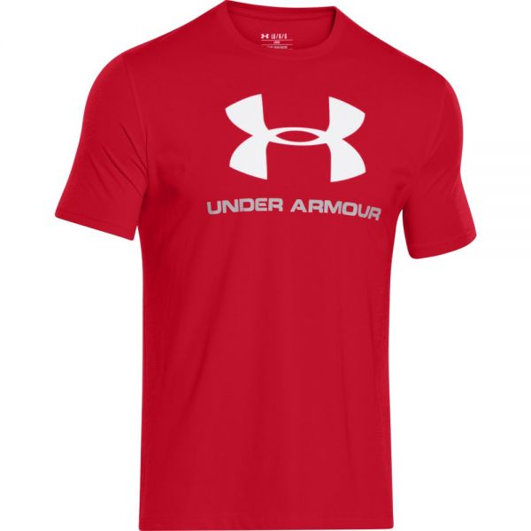 Under Armour Charged Cotton Sportstyle Logo Tee - Red