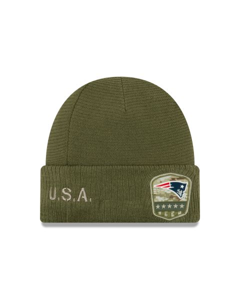 New Era On Field NFL19 Salute To Service Knit - New England Patriots