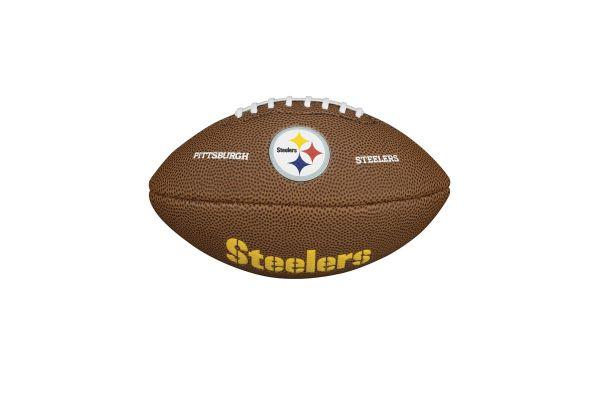 Wilson NFL Mini Team Logo Football - Pittsburgh Steelers