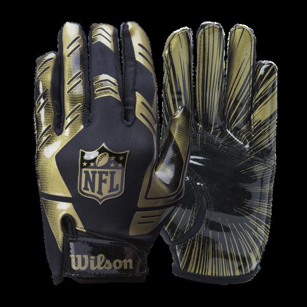 Wilson NFL Stretch Fit Receiver Gloves - Gold