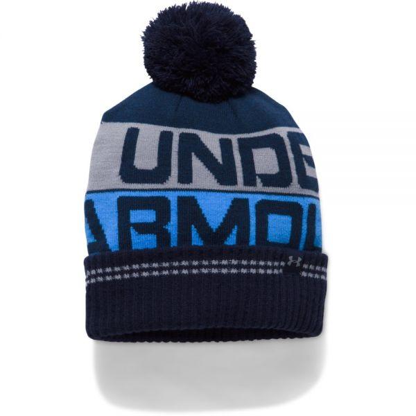 Under Armour Retro Pom Beanie - Navy Blue