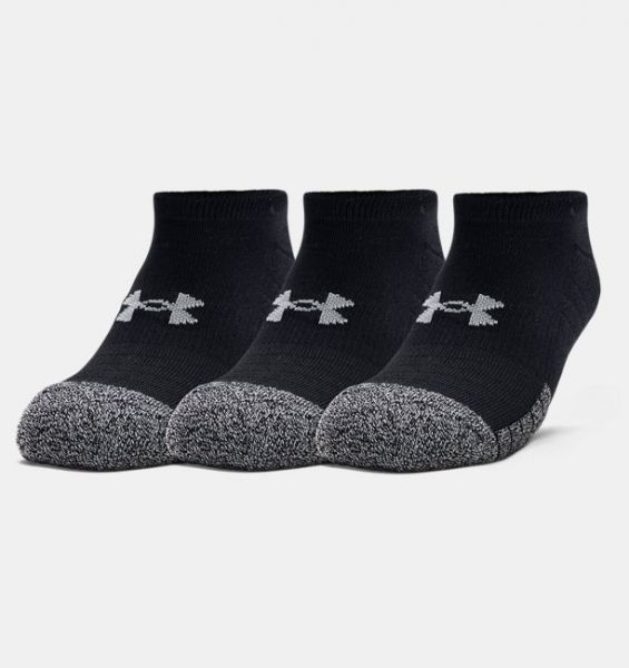 Under Armour 3 Paar Heatgear No Show Socks - Black