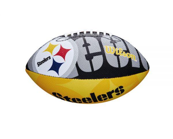 Wilson NFL Junior Team Logo Ball - Pittsburgh Steelers