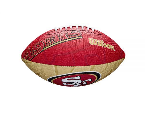 Wilson NFL Junior Team Logo Ball - San Francisco 49ers