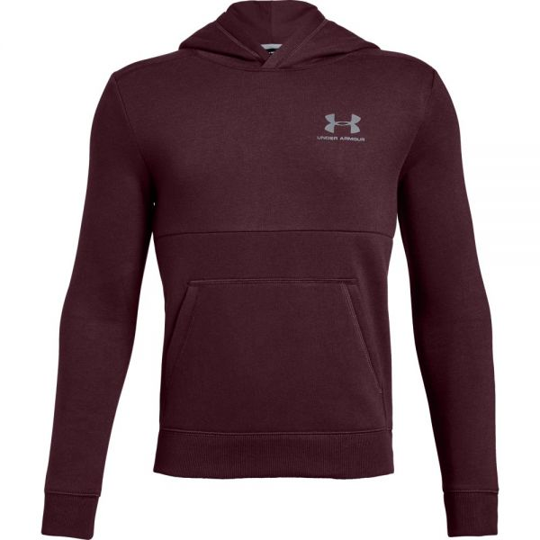 Under Armour Boys EU Cotton Fleece Hoody - Red
