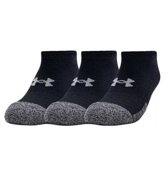 Under Armour 3 Paar Heatgear No Show Socks - Black