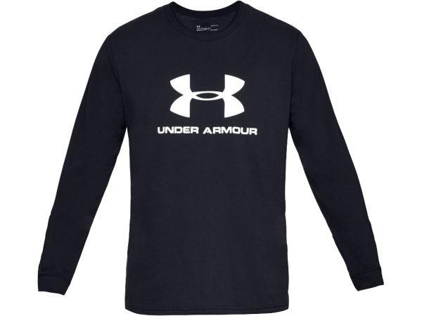 Under Armour Sportstyle Logo Longsleeve Tee - Black