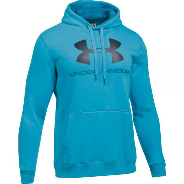 Under Armour Rival Fitted Graphic Hoodie - Blue