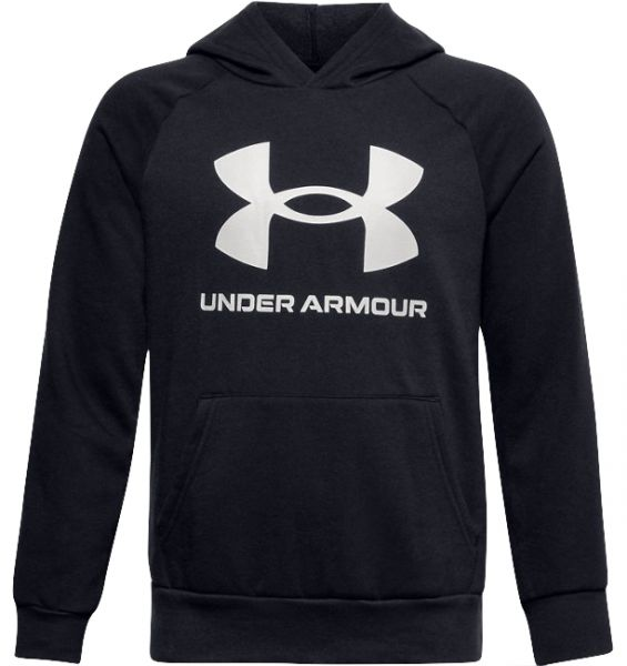 Under Armour YOUTH Rival Fleece Hoodie - Black