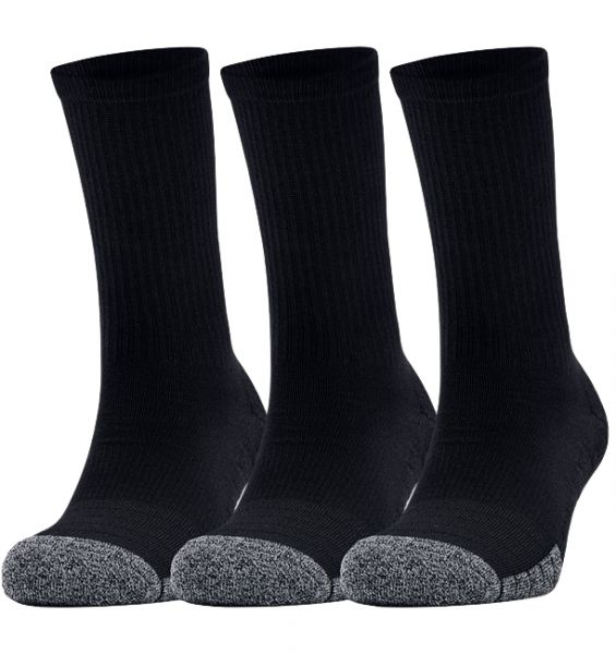 Under Armour 3 Paar Heatgear Crew Socks - Black