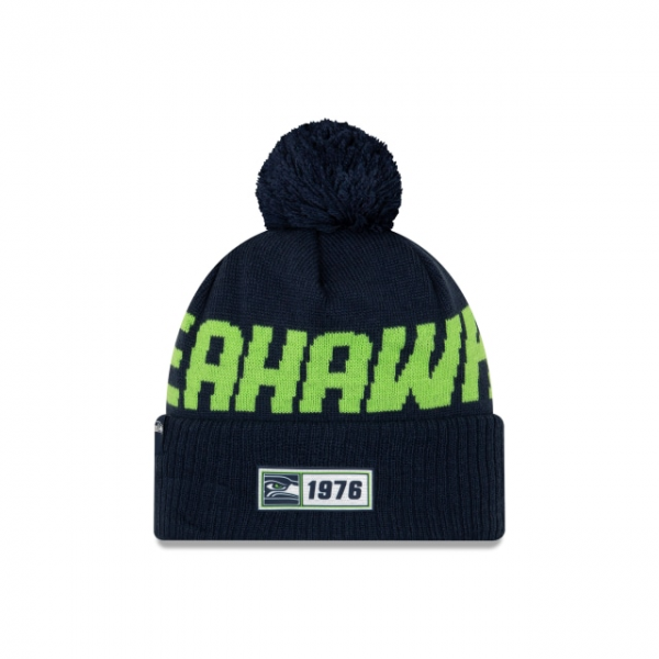 New Era On Field NFL19 Sport Knit Road - Seattle Seahawks
