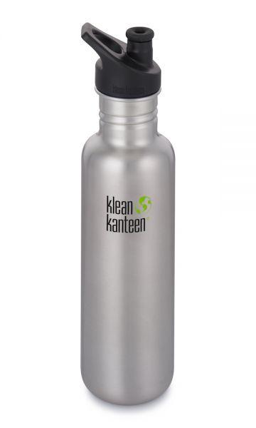 Klean Kanteen Edelstahl Trinkflasche Classic 800ml - Sport Cap