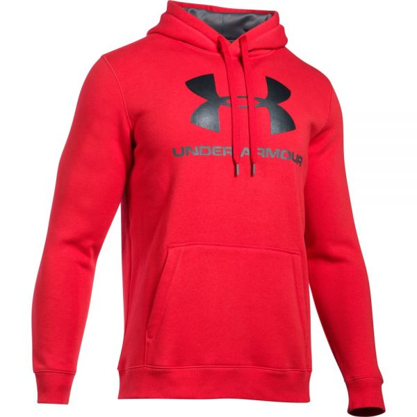 Under Armour Rival Fitted Graphic Hoodie - Red
