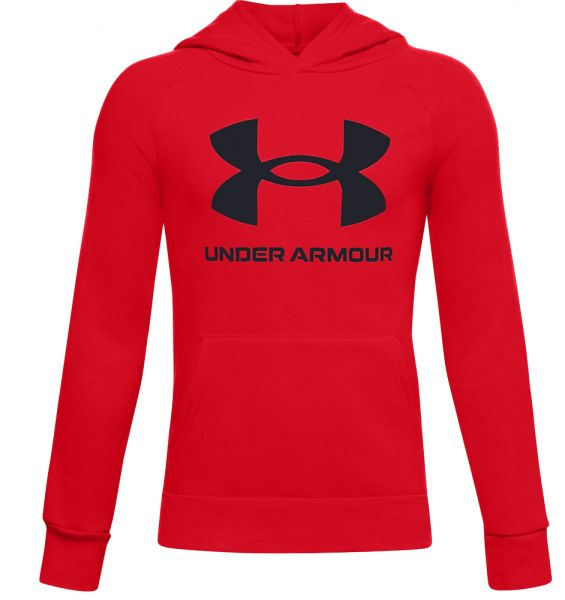 Under Armour YOUTH Rival Fleece Hoodie - Red