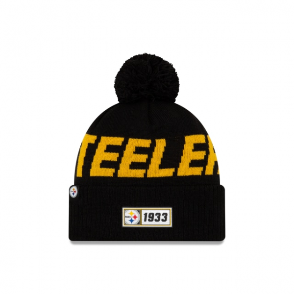 New Era On Field NFL19 Sport Knit Road - Pittsburgh Steelers