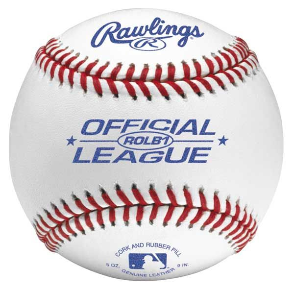 Rawlings ROLB1 Leather Baseball