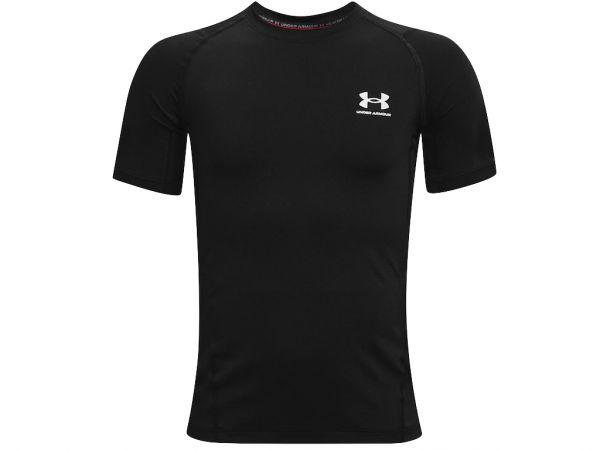 Under Armour YOUTH HeatGear Armour Shortsleeve Shirt - Black
