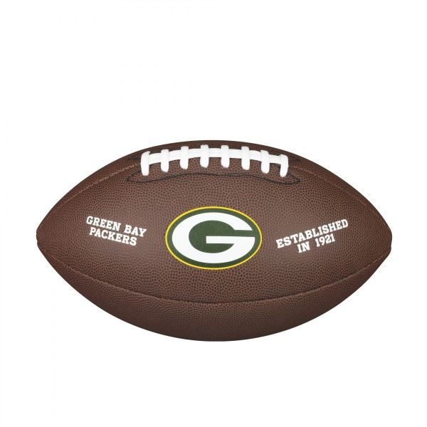 Wilson NFL Team Logo Composite Football - Green Bay Packers