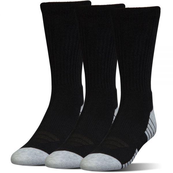 Under Armour 3 Paar Heatgear Tech Crew Socks - Black
