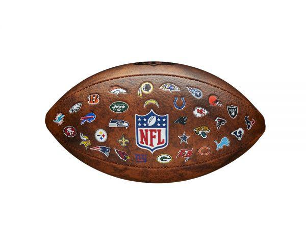 Wilson Adult NFL Throwback 32 Team Logo Ball