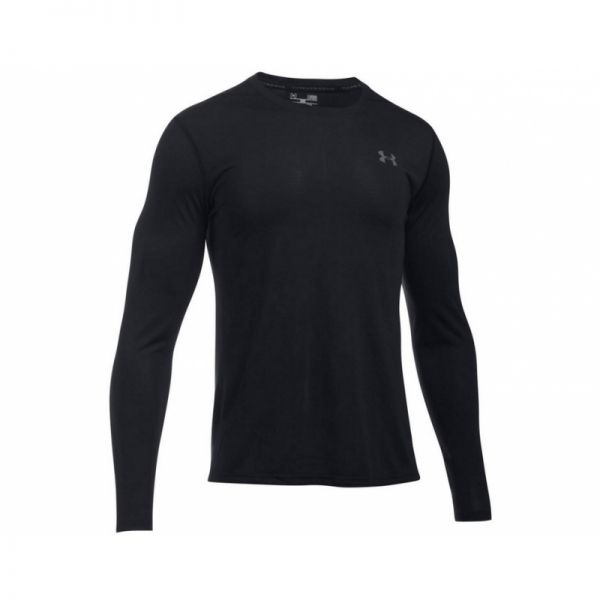 Under Armour Threadborne Fitted Longsleeve Tee - Black