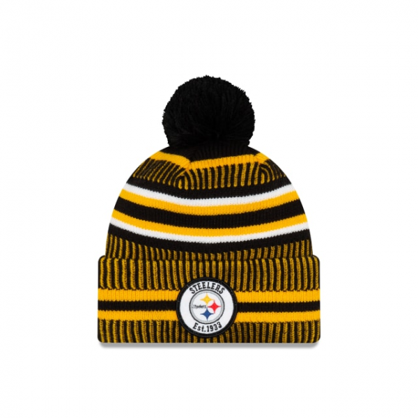 New Era On Field NFL19 Sport Knit Home - Pittsburgh Steelers