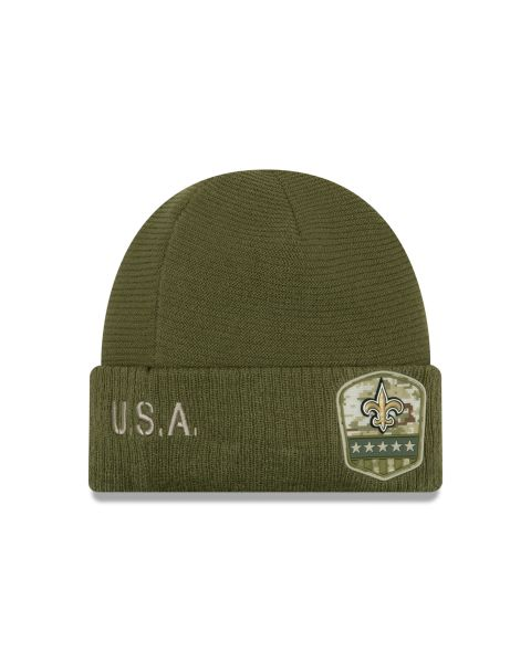 New Era On Field NFL19 Salute To Service Knit - New Orleans Saints